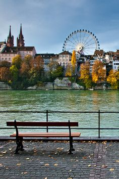 River Rhine in Basel. Switzerland
