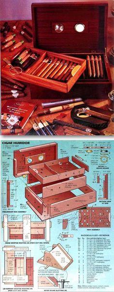 Mahogany Cigar Humidor Plans - Woodworking Plans and Projects   WoodArchivist.com