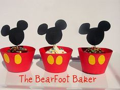 Mickey Mouse Cupcakes:) by thebearfootbaker, via Flickr