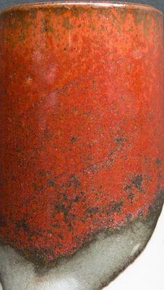 Kaki (Persimmon, Tomato) Glaze   DEREK PHILIP AU   Cone11R   Anderson Ranch Kaki Custer Feldspar 45, Silica 20, Whiting 7, Kaolin 8, Talc 8, Bone Ash 12, Red Iron Oxide 13.5