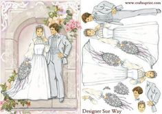 The Wedding Arch Card Front and Decoupage