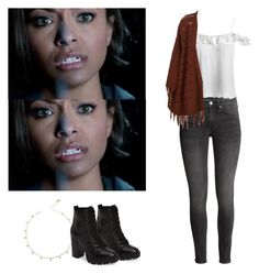 """Bonnie Bennett - tvd / the vampire diaries"" by shadyannon ❤ liked on Polyvore featuring Sans Souci and Steve Madden"