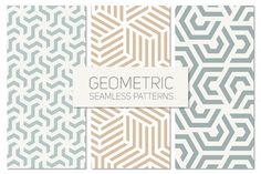 Geometric Seamless Patterns Set 4 by Curly_Pat on @creativemarket