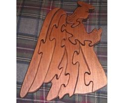 Wooden Angel Puzzle, $20.0