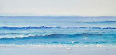 Ocean painting Beach Painting canvas art seascape by JanMatsonArt