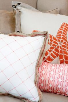 custom fabric....on pillows for example.