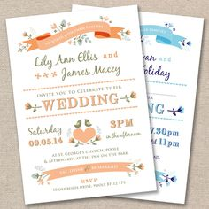 25 x Personalised Wedding Invitations Vintage Rustic Country Garden Day Evening[Own Colour Scheme] Personalised Wedding Invitations, Wedding Stationery, Invites, Some Words, Wedding Supplies, Wedding Colors, Wedding Ideas, Rsvp, Rustic Wedding