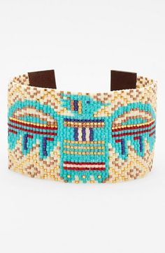 Chan+Luu+Beaded+Leather+Bracelet+available+at+#Nordstrom