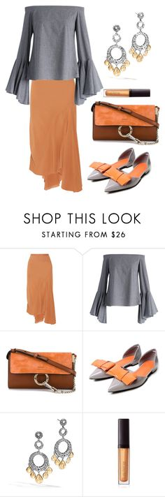"""""""Untitled #1656"""" by naviaux ❤ liked on Polyvore featuring Rick Owens, Chicwish, Chloé, John Hardy and Laura Mercier"""