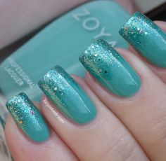 Lucy's Stash: One more gradient manicure with Zoya Wednesday, Zuza and CHG Optical Illusion