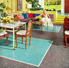 KenRoyal Vinyl Tile ad, 1956 -- why in God's name would you put VCT in your home??