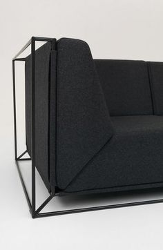 Contemporary sofa / fabric / by Philippe Nigro / 3-seater - FLOATING by Philippe Nigro - comforty
