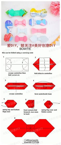 About origami bow on pinterest origami easy origami and diy origami