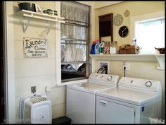 laundry room makeover at BeMadeDesigns