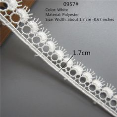 "15mm//5//8/"" Pretty White Flower Chain Guipure Lace Trim *FREE 1ST CLASS POST*"