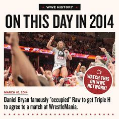 Enough was ENOUGH for @bryanldanielson as he and the @wwe Universe OCCUPIED #RAW on this date in 2014! #WWENetwork