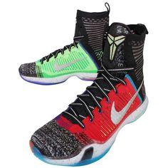 Nike Herren Kobe X Elite SE Sportschuhe-Basketball, Negro / Lima / Azul / Rojo (Multi-Color / Reflect Silver), 42 1/2 EU