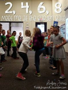 2, 4, 6, 8 Meet Me at the Garden Gate -great blog post about this song. Perfect for spring.