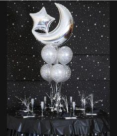 Moon & Star balloon centerpiece