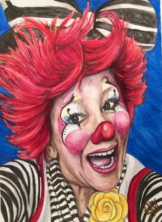 Giclee Print - Watercolor Clown #24 Kelly Lynn Diehl AKA FireKracker Kelly Paper: Fine Art Paper Giclee Print Size: 9 X 12 , 11 X 14, or 16 X 20 inches Frame: Unframed Signed on back and on comes with signed Certificate of Authenticity The paper upon which the ink was applied is fine art paper : acid free, lignin chlorine free, smudge resistant. Avoid touching the surface of the print. Required framing under glass. The print was matched to the original artwork in a collaborative effort…