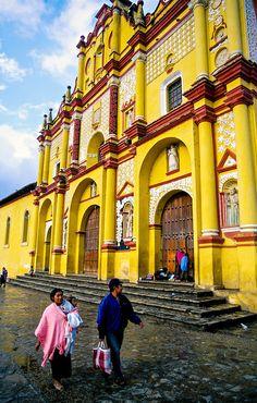Cathedral - San Cristobal de las Casas, Chiapas, Mexico http://www.georginayoungellis.com/