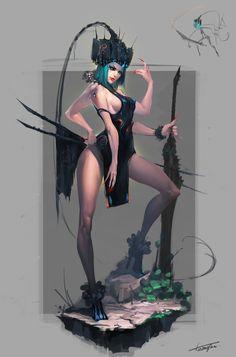 黑湖武士, H H on ArtStation at https://www.artstation.com/artwork/-b2e62d59-62dd-4e73-bab2-20337a4ac36c