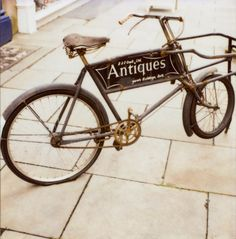 antiques  I love, love, love this bike.