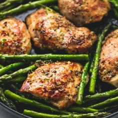 One Pan Garlic Herb Chicken and Asparagus