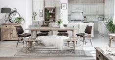 The Valetta collection is a beautiful modern refined rustic dining furniture range in pale, raw timber with all the natural elements exposed to make each and every piece individual.Crafted using only the finest reclaimed timber, each dining table. Rustic Dining Set, Rustic Wooden Bench, Reclaimed Wood Kitchen, Faux Leather Dining Chairs, Reclaimed Wood Dining Table, Reclaimed Wood Furniture, Home Furnishing Stores, Dining Furniture, Ikea Kitchen