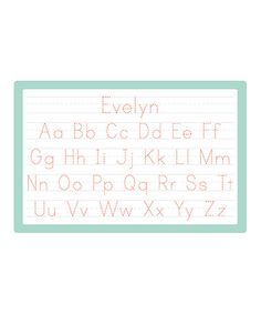 Loving this Print Handwriting Personalized Place Mat on #zulily! #zulilyfinds  i want these for my daughters