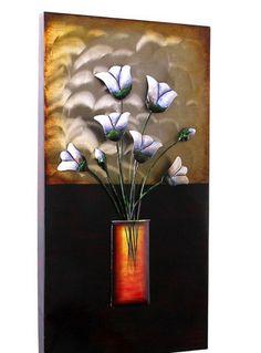 #Óleo decorativo de jarrón con #flores. Sección vestir paredes de Casa Selección.