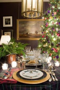 HomeGoods | Nothing Says Merry Christmas like a Table Dressed in Tartan!