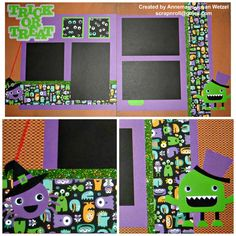 CTMH Jeepers Creepers Scrapbook Page Layout.  Great for Halloween.  Trick or Treat.