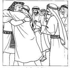Joseph Greets His Brothers In Egypt This Is One Of The Most Generous Acts Forgiveness Found Whole Bible Coloring Page