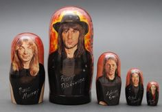 Matryoshka nesting doll Iron Maiden free worldwide shipping | ArtMatryoshka - Art on ArtFire