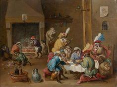 Lot : Attribué à Ferdinand Van KESSEL (Anvers 1648 - 1696) - Singerie - Cuivre[...] | Dans la vente Tableaux anciens et du XIXe siècle à Tajan