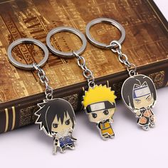 Naruto Crystal Key Chain LED light Pendant key chains lots choise anime ornament