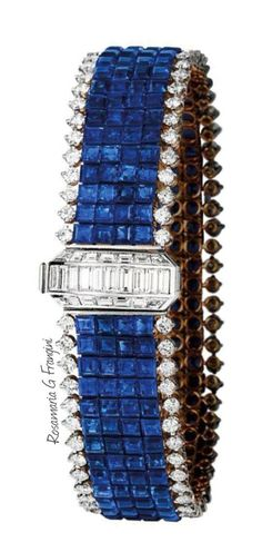 "RosamariaGFrangini | HighJewellery Clasdic | TJS | ""Sapphire and Diamond Bracelet"