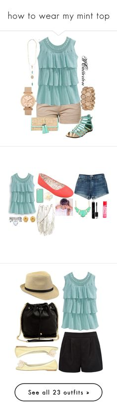 """""""how to wear my mint top"""" by regan-gillespie ❤ liked on Polyvore featuring Bench, ALDO, Citizens of Humanity, Cleobella, Forever New, Tiffany & Co., Christian Dior, Lucky Brand, 993 Nove-Nove-Tre and Frame"""