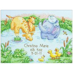 Birth Announcement Cross Stitch Kits   ... Pond Baby Birth Record Kit - Counted Cross Stitch Kits at Weekend Kits