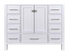 Stufurhome GM-6412-48PW 48-Inch Malibu Pure White Single Sink Bathroom Vanity Cabinet - - AmazonSmile