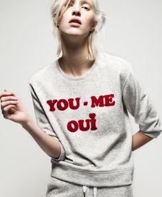 YOU,ME,OUI BOX FIT DROPPED SHOULDER SWEAT | Zoe Karssen
