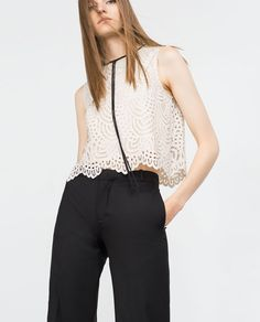 GUIPURE LACE TOP - View all - Tops - WOMAN | ZARA United States