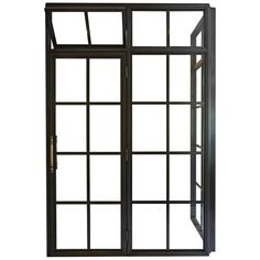 For Sale on - Inspired by vintage factory windows and our Frankford Panel System, this industrial custom shower enclosure includes operable transom and custom machined Diy Door Knobs, Art Deco Bathroom, Garden Bathroom, Modern Bathroom, Traditional Front Doors, Vintage Doors, Front Door Design, Modern Door, Panel Systems