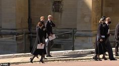 Prince William and Kate were seenwalking and chatting with Prince Harry for a few minutes as they left their grandfather's funeral service at Windsor Castle in April.