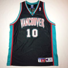 2978aafd4a4 Mike Bibby Vancouver Grizzlies Authentic Champion Basketball Jersey Size XL