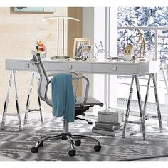 Serge White Low Back Swivel Office Chair