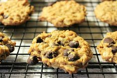 Sweet and Spicy Monkey: Flourless Peanut Butter Oatmeal Chocolate Chip Cookies