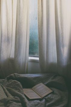 The upsides of a rainy day. Love the soft morning light coming through the window.