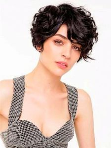 Very Short Curly Hairstyle